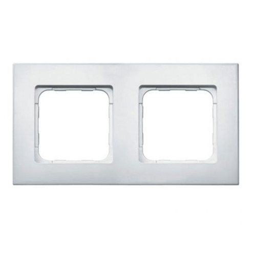 White finish double frame for for the Smoove RTS wall switch module.