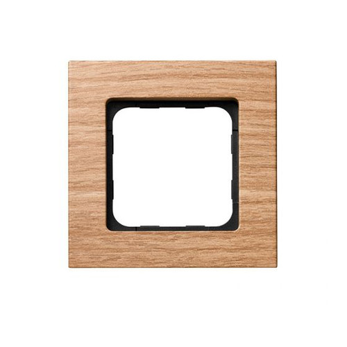 Amber Bamboo finish frame for the Smoove RTS wall switch module.