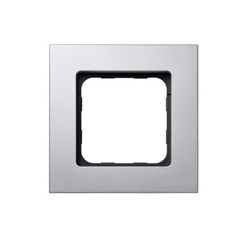 Silver Matte finish frame for the Smoove RTS wall switch module.