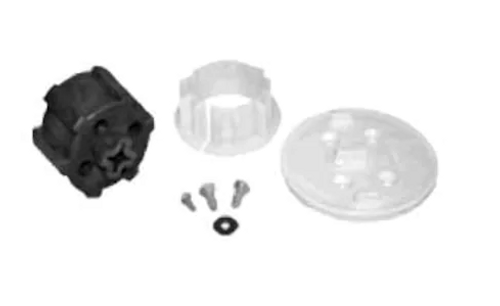 Somfy Crown, Drive, Motor Mount Plate, and 3.5 x 9mm Screws for Louvolite System 45