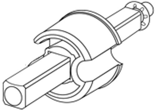 "2"" End Cap - 12mm Shaft"