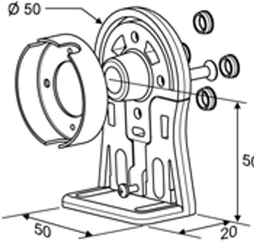 LS40 Idler End Bracket Decorator Type
