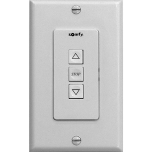ST30 Up/Stop/Down Wall Switch (Ivory) Decora-style wall switch compatible with Somfy's Sonnese 30DCT motors.  Ivory