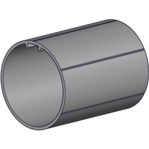 """2.0"""" OD profiled aluminum tube 6' length - no tape."""