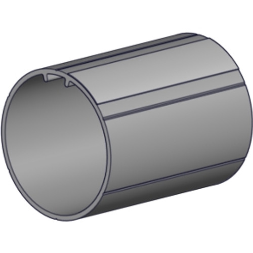 "2.0"" OD profiled aluminum tube 6' length with Tape."