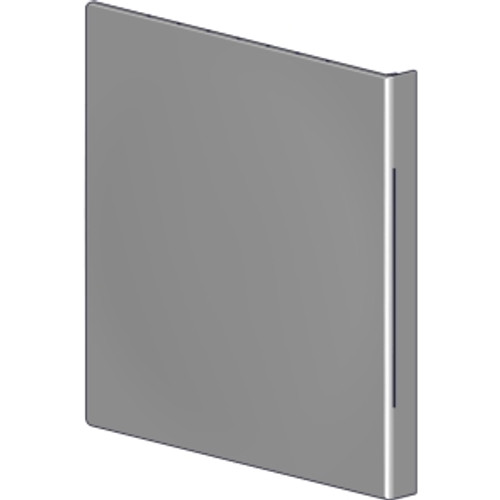 """5"""" square fascia end cap.  Attaches directly to RollEase 5"""" fascia base brackets."""