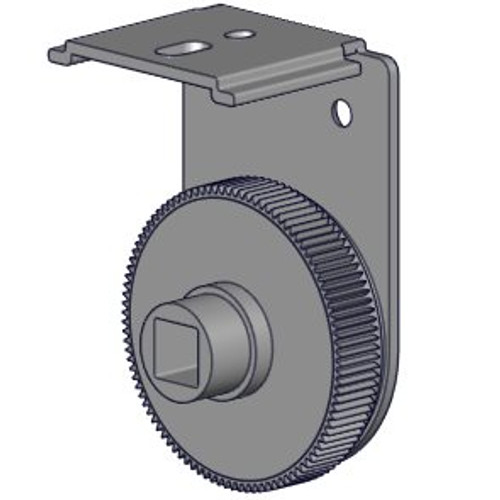 Bracket with adjuster wheel for single shades (Easy Spring Plus) - white