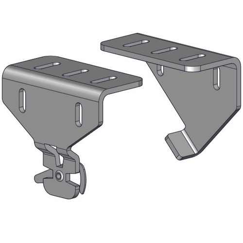 Heavy duty R-Series mounting bracket set zinc finish. For use with heavier/larger shades. For use with R16/R24 chain/clutch shades.