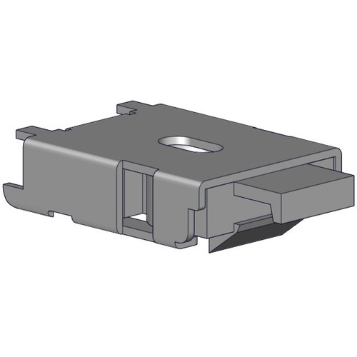 Mounting brackets for single shade headrail (Easy Spring Plus) - silver.