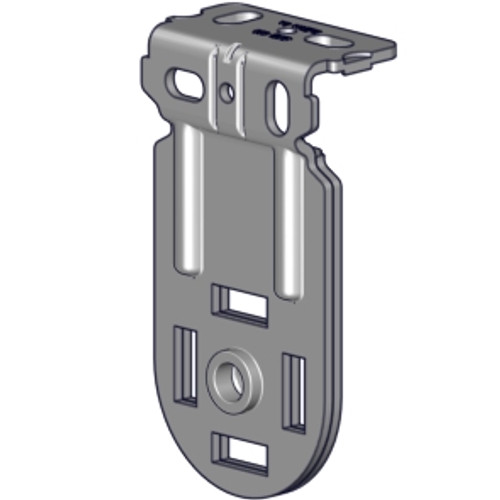 """Narrow Skyline bracket zinc finish (2.0"""" projection). Bracket for Rollease Skyline. Has projection of 2"""". Either bracket can hold either a clutch or an idle end plug."""