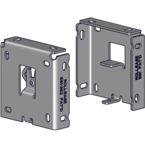 """Rollease R16 R-Series 3"""" square fascia bracket set. Used for R16 clutch for Rollease roller shade systems with 3"""" fascia."""