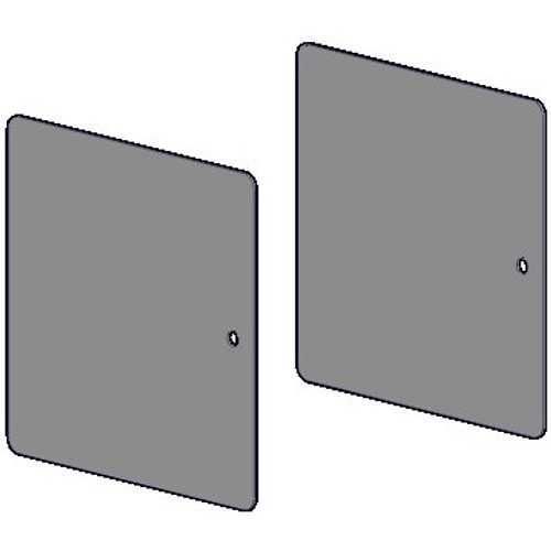 """R-Series 3"""" square fascia face plate pair. Bracket cover for RB561 and RB361 fascia brackets."""