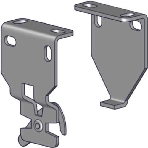 """Rollease R3-R8 R-Series mounting bracket set (1.5"""" projection). For use with R3 or R8 clutches. Includes end plug bracket and locking mechanism."""