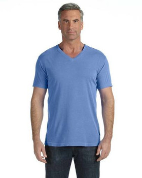 Adult Garment Dyed V-Neck T-Shirts