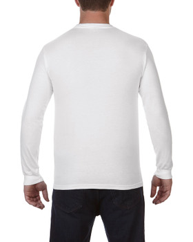 Adult Garment Dyed Long Sleeve T-Shirts W/ Pocket