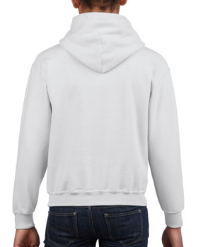 Gildan Youth Heavy Blend Hooded Sweatshirt - White