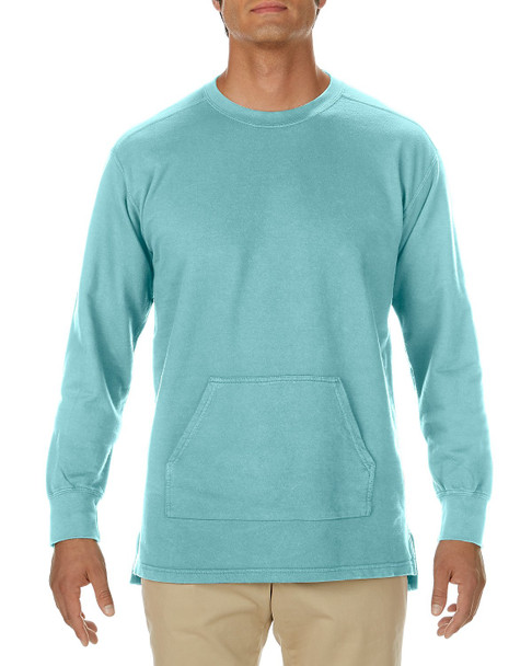 Adult Garment Dyed French Terry Crew with Pocket