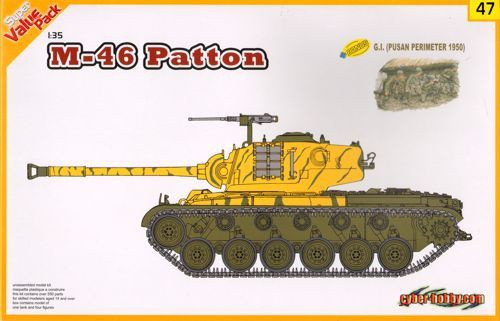 Cyber-Hobby 1/35 M46 Patton with 4 x G.I.