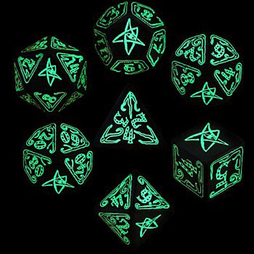 Call of Cthulhu Fluorescent Green Dice