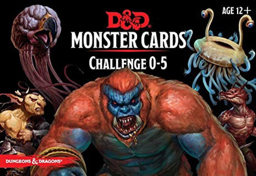 Dungeons & Dragons Monster Cards - Challenge (0-5)