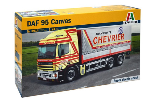 Italeri 1/24 DAF 95 Canvas Truck (Main Freight Decals)