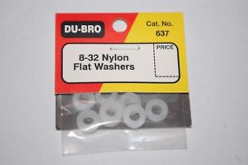 Dubro - 8-32 Nylon Flat Washer