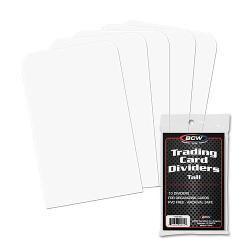 BCW - Tall Trading Card Dividers