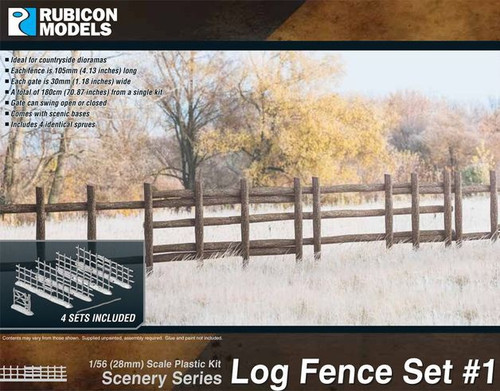 Rubicon 1/56 Log Fence Set #1