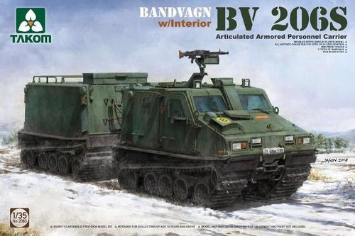 Takom 1/35 Bv206S Articulated Armoured Personnel Carrier with Interior