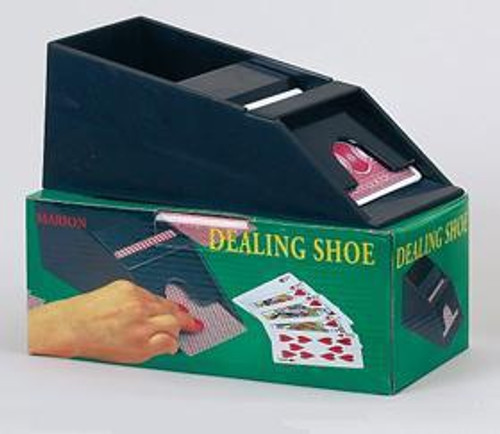 Dealer Shoe: Plastic Dealing Shoe (Holds 4 Playing Cards Decks)