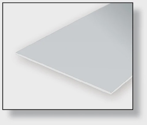 """Evergreen Opaque White Polystyrene Sheets  6"""" x 12"""" (15 x 30 cm)"""