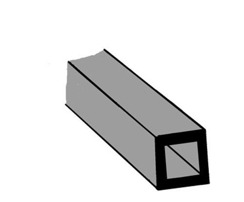Plastruct ABS Square Tube 3/8 (9.5mm) STFS-12