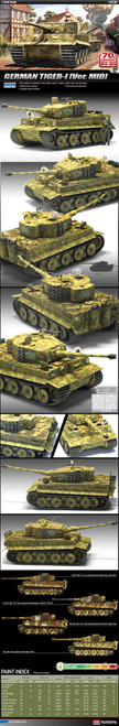 Academy 1/35 Tiger I Mid Version, Invasion of Normandy 70th Anniversary (New Mould)