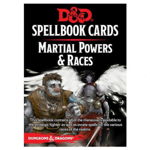 Dungeons & Dragons Spellbook Cards - Martial Powers & Races Deck