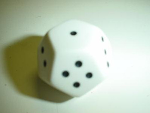 Pipped d4 Die (d12 with 1-4 pips)