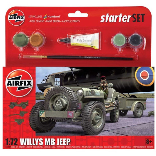 Airfix 1/72 Willys MB Jeep Starter Set