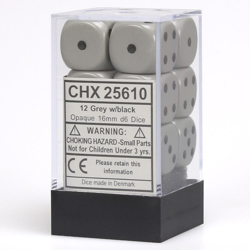 Chessex D6 Opaque Dice Cube Set - 16mm