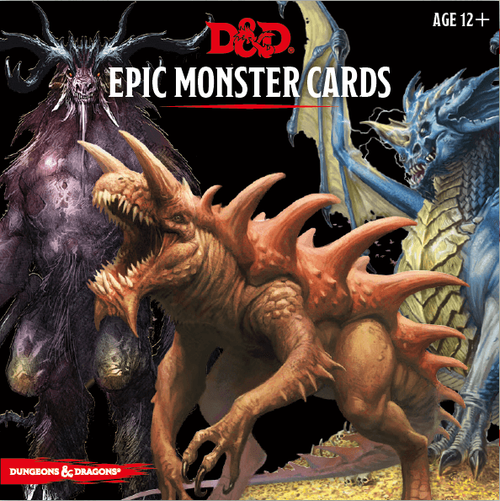 Dungeons & Dragons Monster Cards - Epic Monster Cards