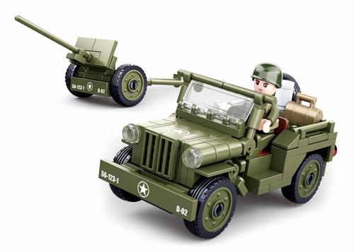 Sluban Allied Willy's Jeep M38-B0853