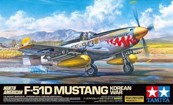 Tamiya 1/32 North American F-51D Mustang Korean War