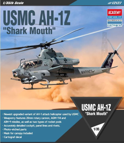"Academy 1/35 USMC AH-1Z ""Shark Mouth"""