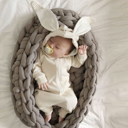 baby boy, girl,romper, suit, bunny ears, soft cotton, zipper, cotton
