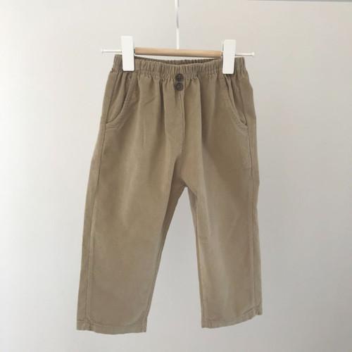 Corduroy Sweat Style Pants- Beige