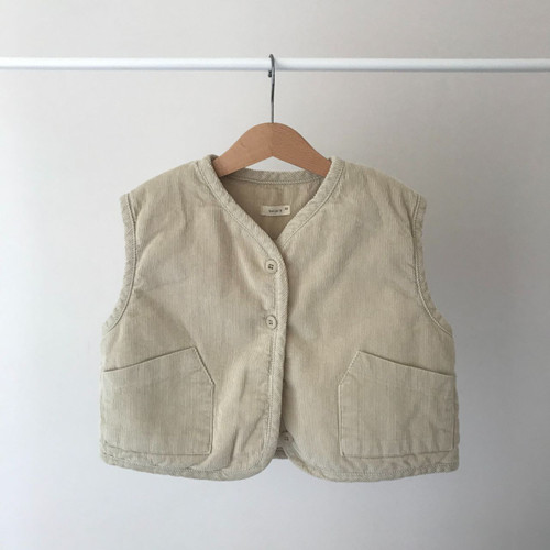 Corduroy Relaxed Vest