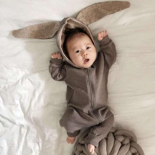 Bunny Ears Suit - Gray