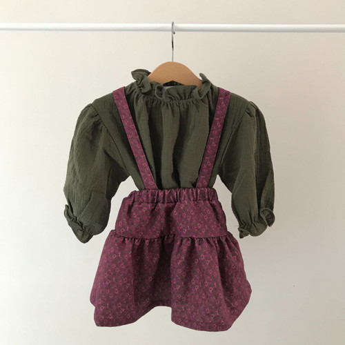 Urban Top and Skirt Set- Purple/Green