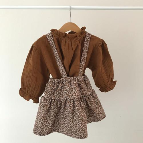 Urban Top and Skirt Set- Beige/Brown