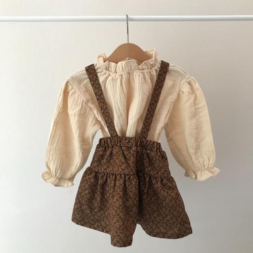 Urban Top and Skirt Set- Brown/Cream