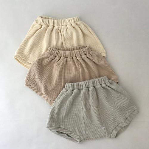 waffle oversize shorts soft dusty pink cream  sky colour