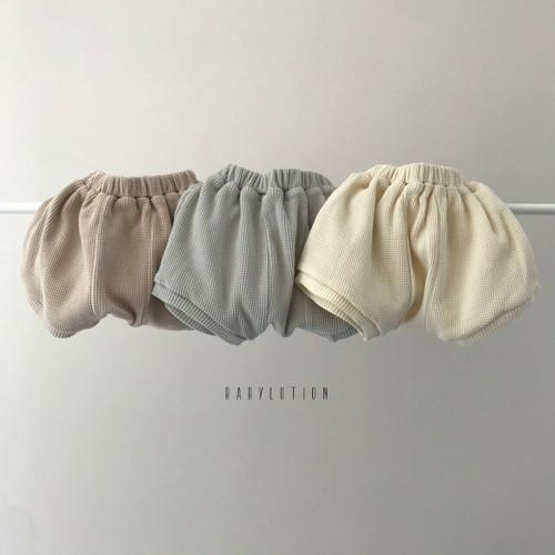 waffle oversize shorts dusty pink cream sky colour